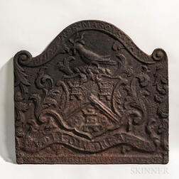 "Cast Iron Joseph Webb ""The Free Masons Arms"" Fireback"