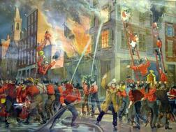 Firefighting Lithograph
