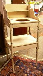 Federal Painted Pine Washstand.