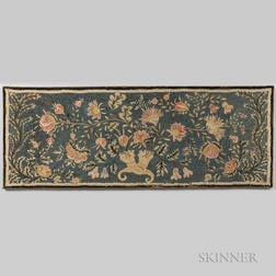 Floral Embroidered and Yarn-sewn Mat