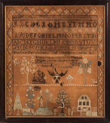 """Mary S. Graham"" Needlework Sampler"