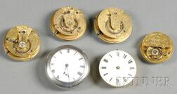 Six Liverpool Watch Movements by Various Makers