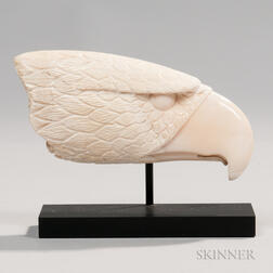 Carved Whale Ivory Eagle Head