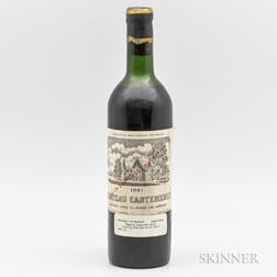 Chateau Cantemerle 1961, 1 bottle