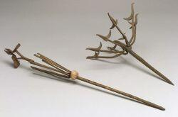 Two African Forged Metal Staffs