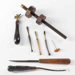 Eight Musical Instrument Maker's Tools