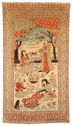 Kahanikar Wood-block Printed Pictorial Wall Hanging