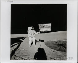 Apollo 14, Alan Shepard and the American Flag on the Moon, February 5, 1971.