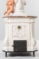 Continental Ceramic and Marble Architectural Stove