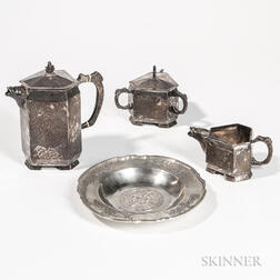 Four Pieces of South American Silver Tableware