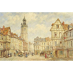 Pierre LeBoeuff (Continental School, 19th/20th Century)  Clock Tower, Eureux