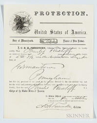 Protection Document for African American Seaman Charles Radcliff