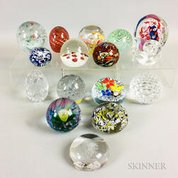Sixteen Glass Paperweights
