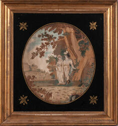 Silk Needlework Embroidered Picture