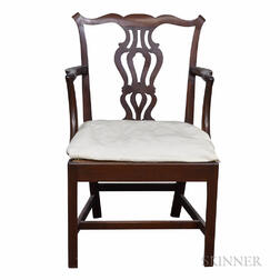 Chippendale Carved Mahogany Slip-seat Armchair