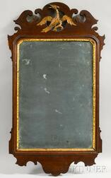 Chippendale Carved Mahogany and Gilt-gesso Scroll-frame Mirror