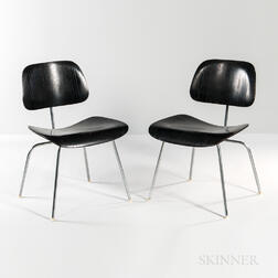 Two Ray and Charles Eames for Herman Miller Metal Lounge Chairs (LCM)