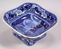 Blue Transfer Decorated Dr. Syntax Staffordshire Pottery Vegetable Dish