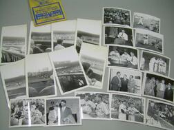 Set of Eight 1940s Personal Photographs of the Boston Red Sox at Fenway Park and a Set of Thirteen 1946 Boston ...