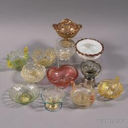 Twelve Art Glass Salts