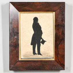 Hollow-cut Silhouette of the Honorable John Richardson Cut by Master Hankes