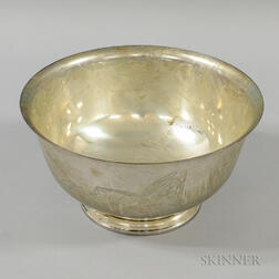 Steiff Sterling Silver Revere-reproduction Yacht Trophy Bowl