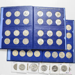 Approximately 316 Proof and Business Strike Franklin Half Dollars
