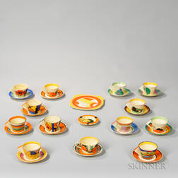 *Twenty-eight Clarice Cliff Items