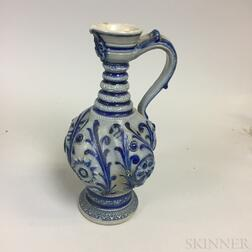 Small Cobalt-decorated Stoneware Jug