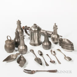 Twenty-five Pieces of Early Medical Pewter
