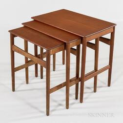 Three Hans Wegner for Andreas Tuck Teak Nesting Tables