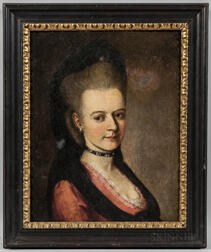 Continental or German School, 18th Century      Bust-length Portrait of a Lady