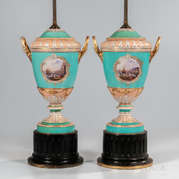 Pair of KPM Berlin Porcelain Vases