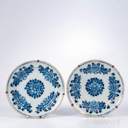 Pair of Dutch Delft Blue and White Dishes