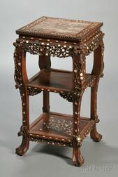 Inlaid Rosewood Stand