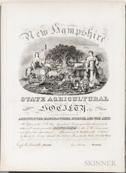 New Hampshire State Agricultural Society; State Fair Award for Needlework, Manchester, New Hampshire, October 1851.