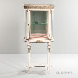 Louis XVI-style Painted and Metal-mounted Vitrine