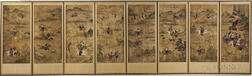 Eight-panel Horyeopdo   Folding Screen
