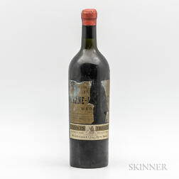 Chateau Brane Cantanac (presumed to be) 1918, 1 bottle