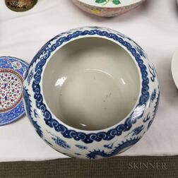 Blue and White Alms Bowl