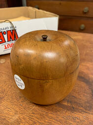 Turned Fruitwood Apple Tea Caddy