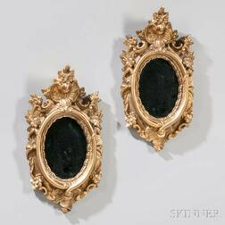 Pair of Baroque-style Gilded Mirrors