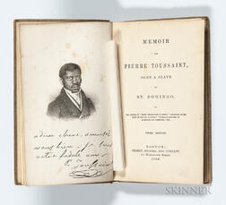 Memoir of Pierre Toussaint Born a Slave in St. Domingo