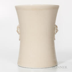 Blanc-de-Chine Scroll Holder