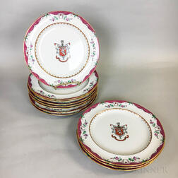 Twelve Copeland Earthenware Armorial Plates