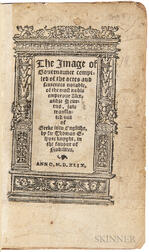 Elyot, Sir Thomas (1490?-1546) The Image of Governaunce Compiled of the Actes and Sentences Notable, of the Most Noble Emperour Alexand