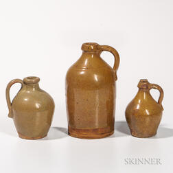 Three Glazed Redware Jugs