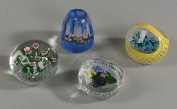 Four Ray Banford Paperweights