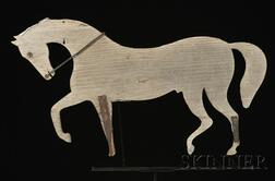Painted Wooden Walking Horse Weathervane