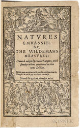 Brathwaite, Richard (1588-1673) Natures Embassie: or, the Wilde-Mans Measures: Danced Naked by Twelve Satyres.